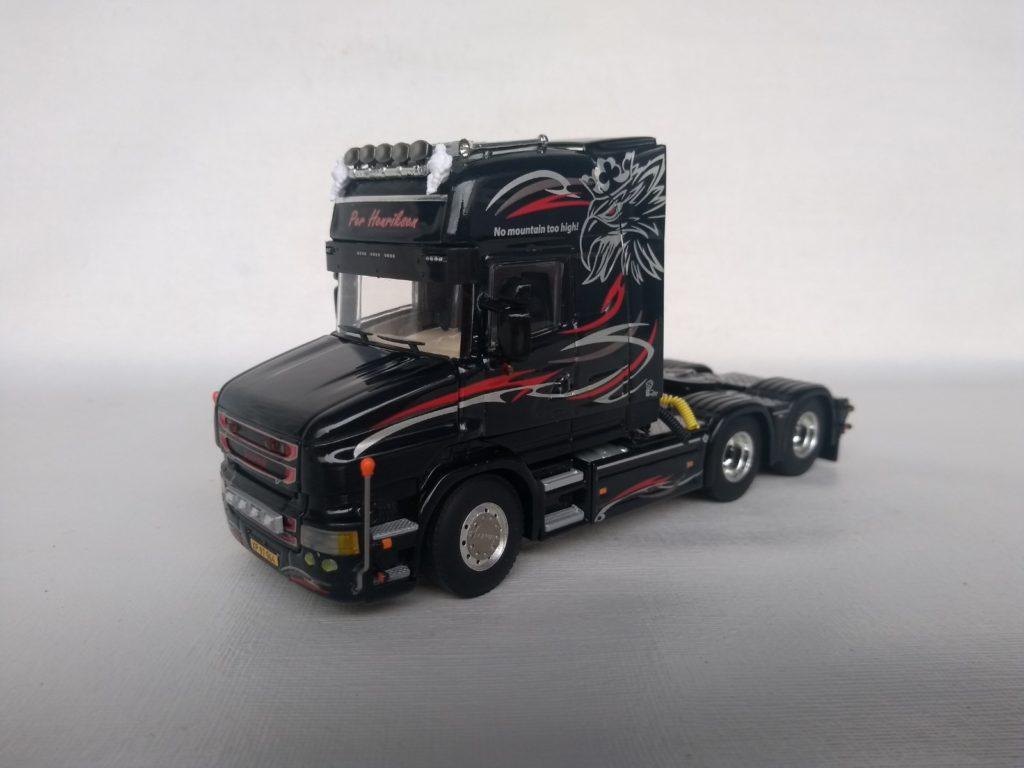 Miniatura Caminhão Scania T730 Topline V8 escala 1:50 da WSI.