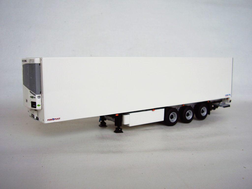 Miniatura Carreta Furgão Refrigerado P/ Caminhão na escala 1:50 da WSI.